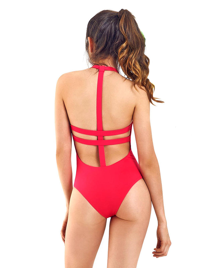 TULI RED ONE PIECE BY MOLA MOLA