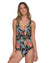 BLACK FLOWERY ONE PIECE BY MALAI