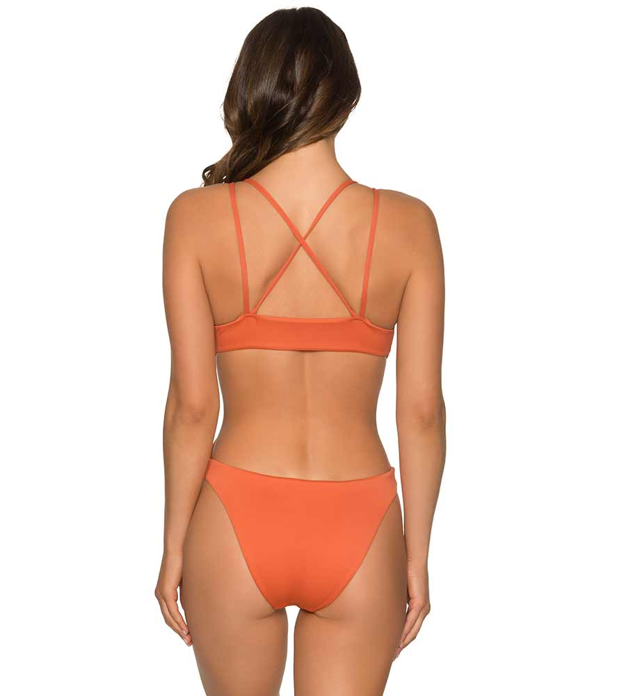 ORANGE LATERITE AURORA ONE PIECE BY AERIN ROSE