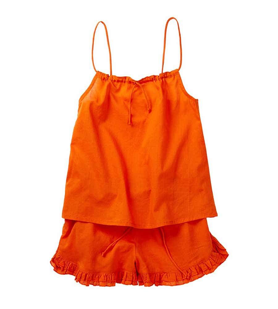 ORANGE TANK AND SHORTS AZUL 6010-O
