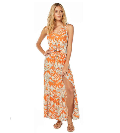 ORANGE LEAVES DRESS COSITA LINDA CL21089C