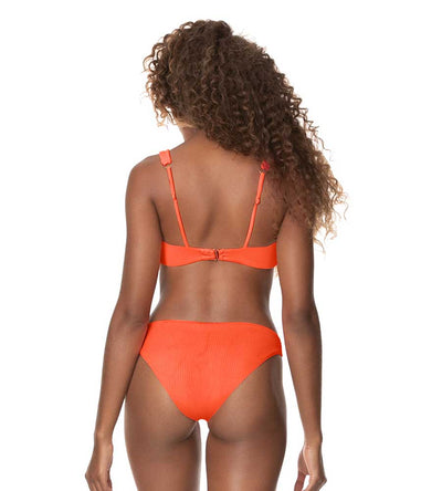 PAPAYA ORANGE FLIRT THIN SIDE BIKINI BOTTOM MAAJI 3039SBC023
