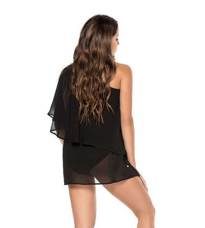 BLACK ONE SHOULDER COVER UP PHAX PF11610058-001