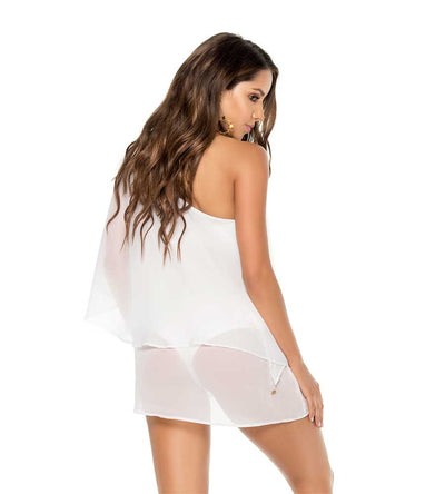 WHITE ONE SHOULDER COVER UP PHAX PF11610058-100