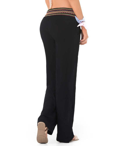 EMBROIDERED BLACK BEACH PANT PHAX PF11710054-001
