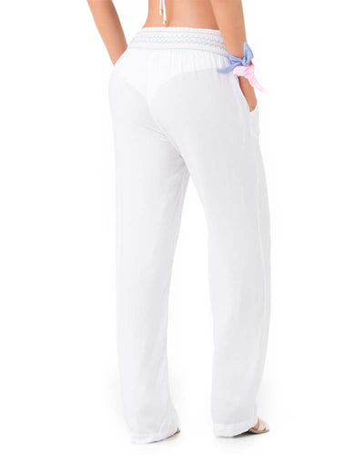 EMBROIDERED WHITE BEACH PANT PHAX PF11710054-100