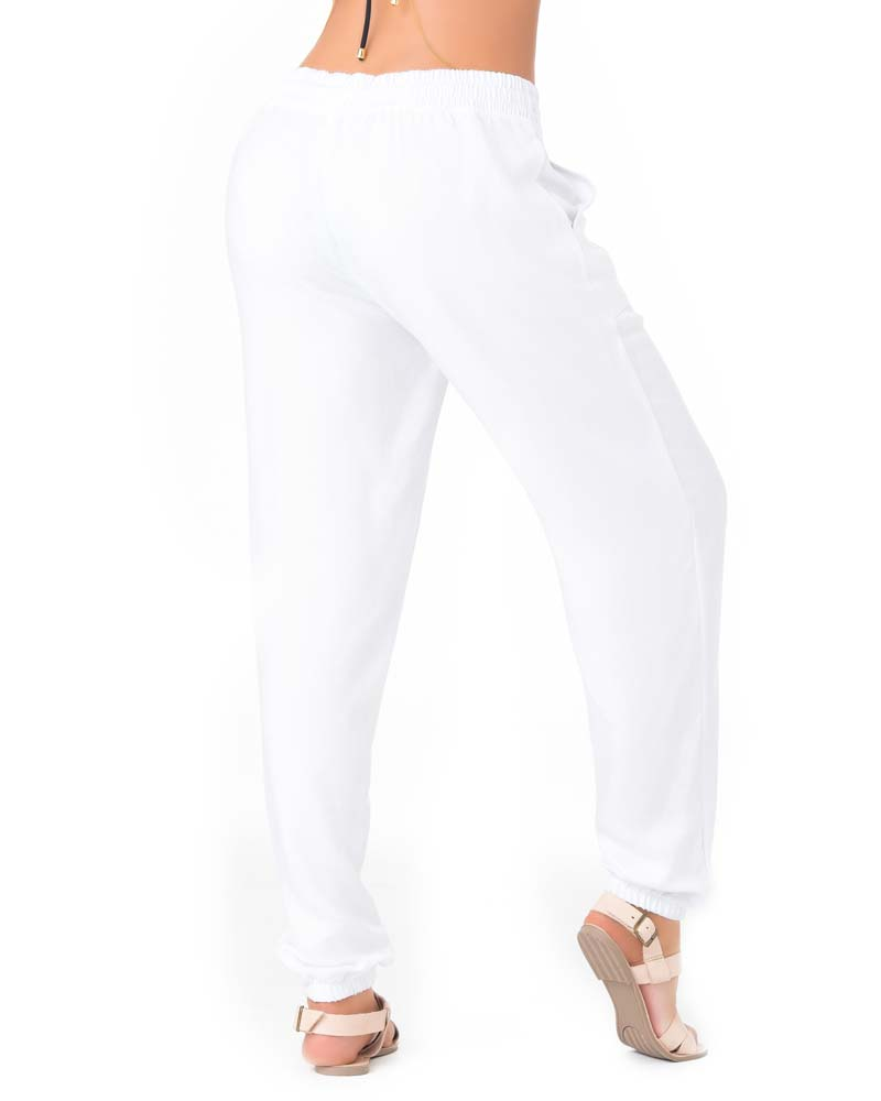 WHITE STRAIGHT LEG BEACH PANT BY PHAX