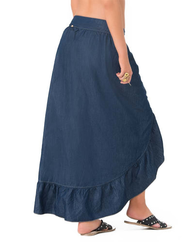 DARK DENIM SARONG SKIRT PHAX PF11750055-400