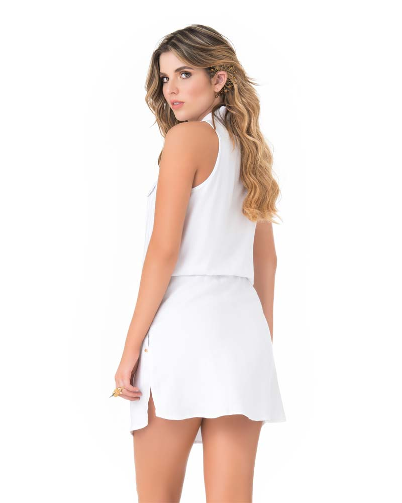 WHITE SAFARI DRESS BY PHAX