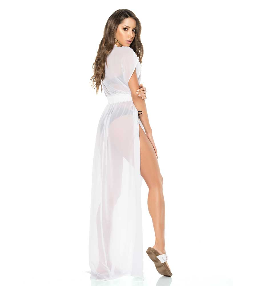 WHITE LONG TUNIC DRESS BY PHAX