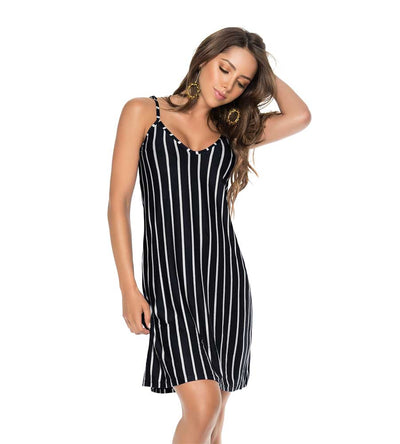 SHORT STRIPE DRESS PHAX PF11810360-001