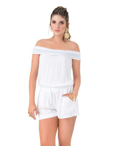 EMBROIDERED WHITE ROMPER PHAX PF11840056-100