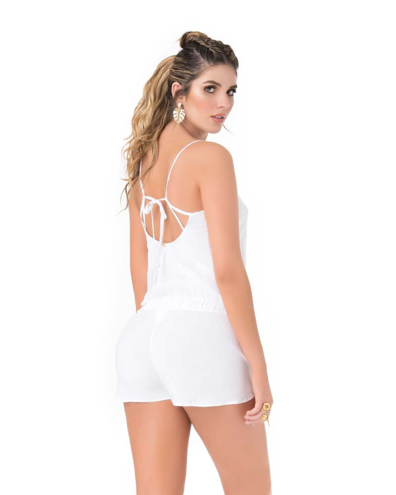 WHITE ROMPER BY PHAX