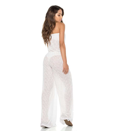 IVORY STRAPLESS JUMPSUIT PHAX PF11840061-253