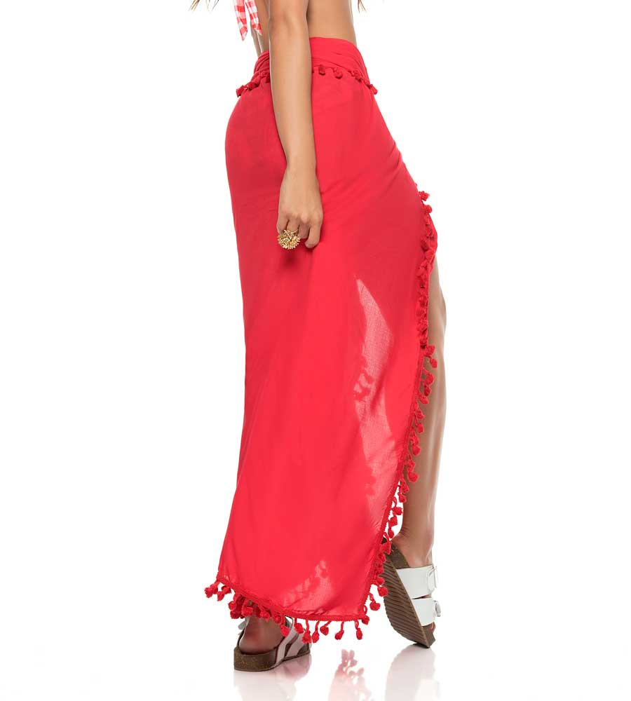 RED COLOR MIX SARONG PHAX PF16750002-610