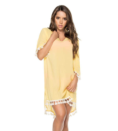 YELLOW POM POM TUNIC PHAX PF16810002-720