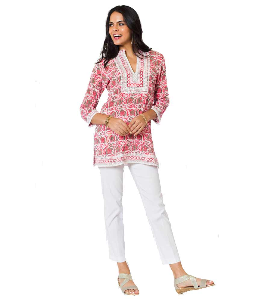 PINK CARNATION GEORGIA TUNIC SULU GEORGIA2