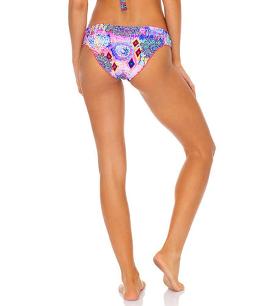 PINK LAGOON RUCHED FULL BOTTOM LULI FAMA L64652P-111
