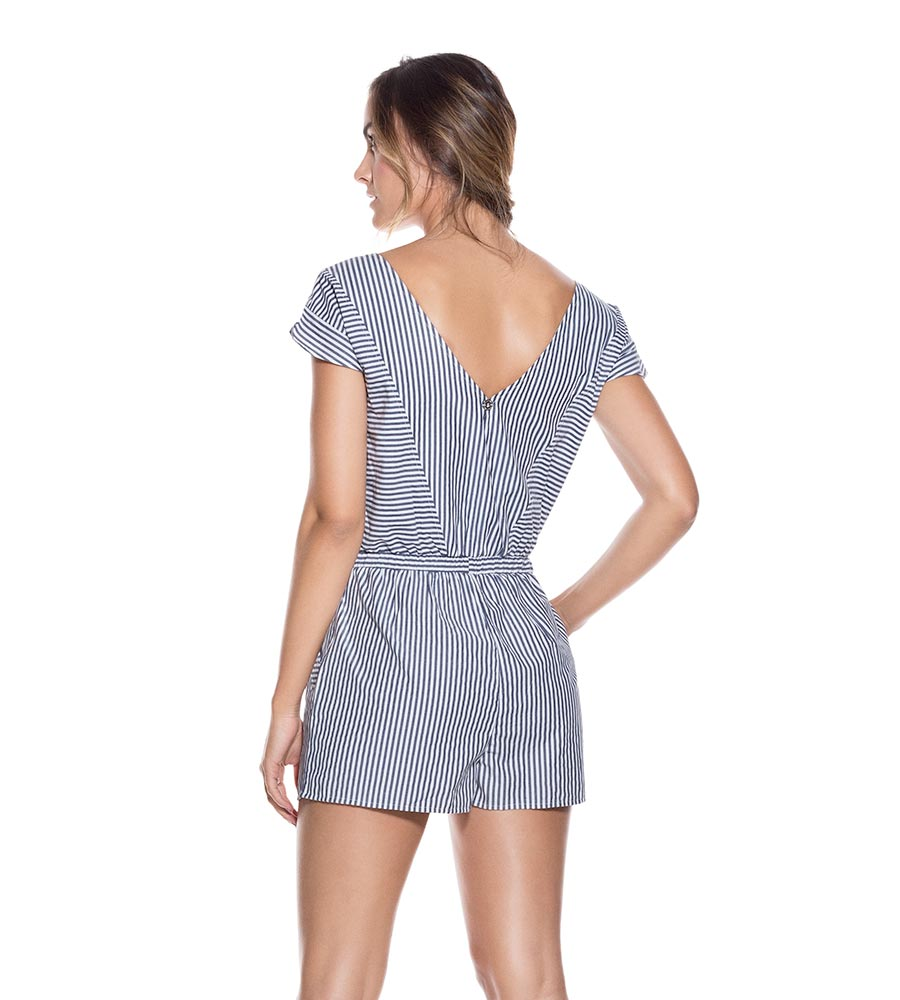STRIPE COTTON PLAYSUIT ONDADEMAR PLS025-SOLID