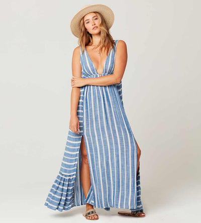 POOLSIDE STRIPE ALLISON COVER UP BY LSPACE