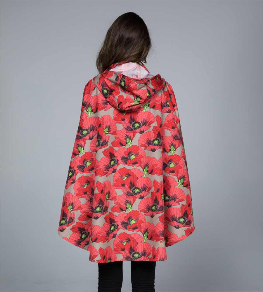 POPPIES RAIN PONCHO BY NOVEMBER RAIN