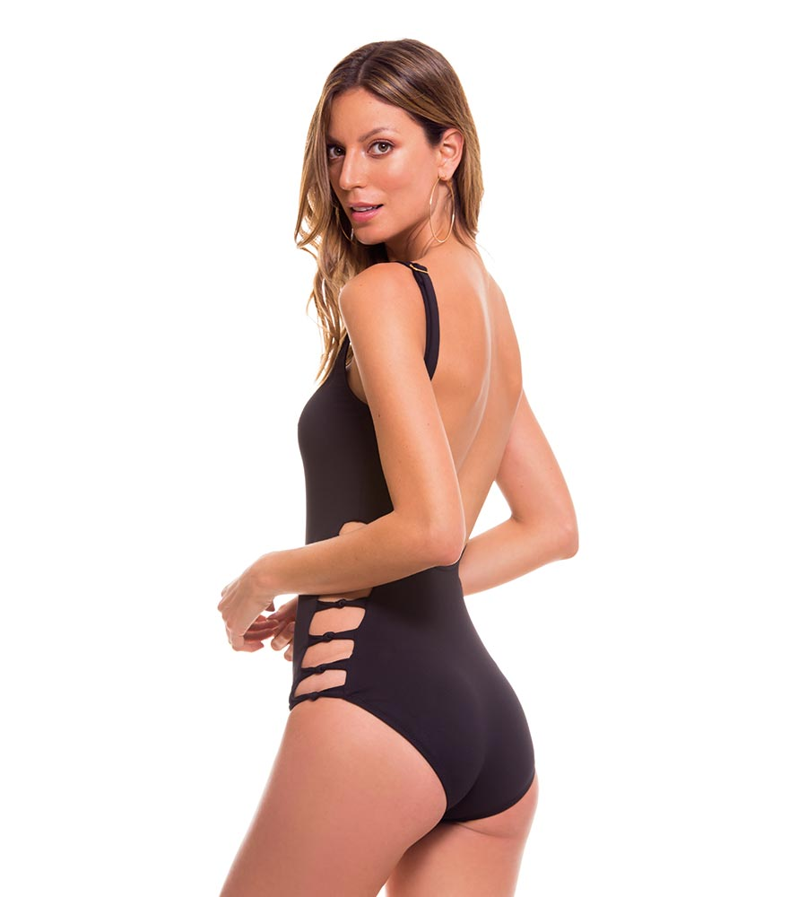 PORTUGAL BLACK ONE PIECE MILONGA POR703