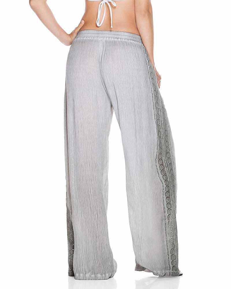 GRAY EMBELLISHED PANT ONDADEMAR PT080-SOLID
