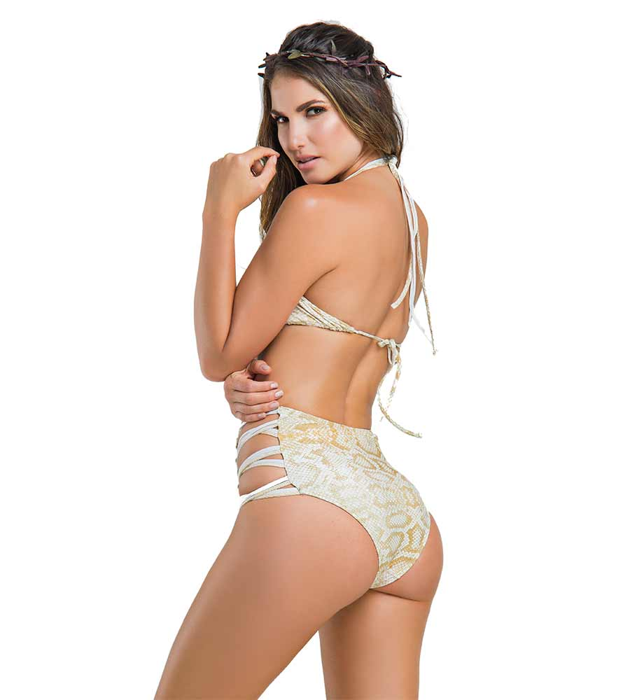 PYTHON DELIGHT HIGH WAIST BIKINI BY PARADIZIA