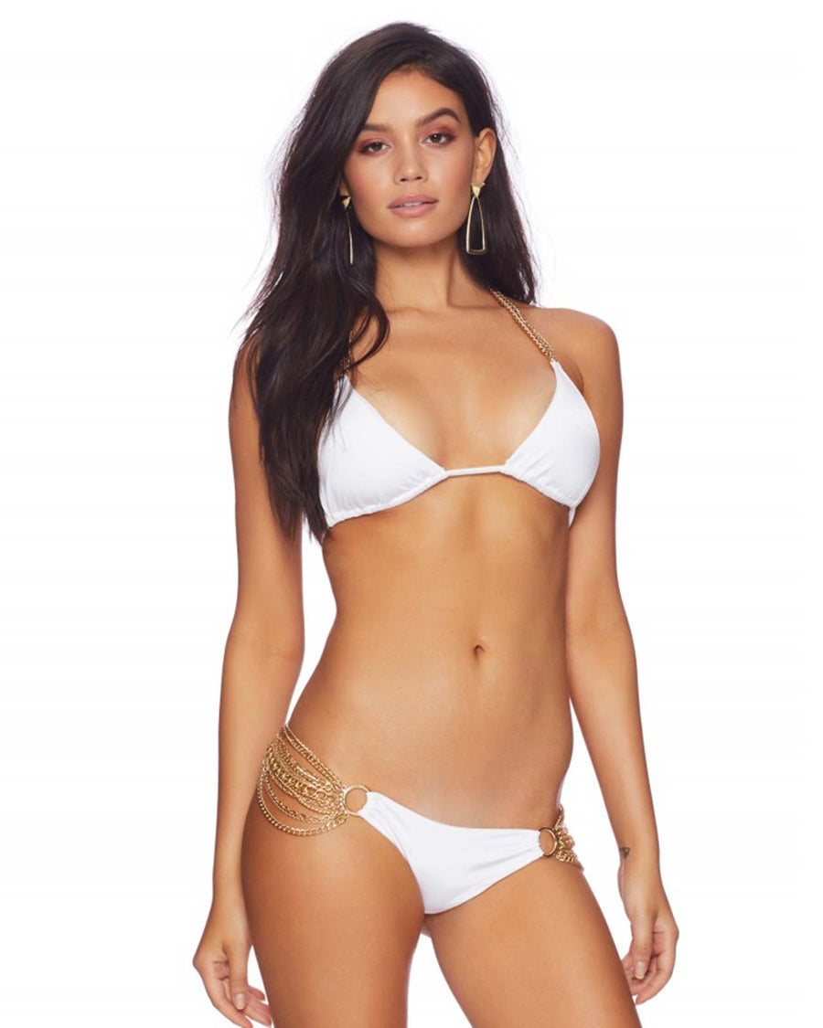 WHITE BALL AND CHAIN SKIMPY BEACH BUNNY R1505B1-WHTE