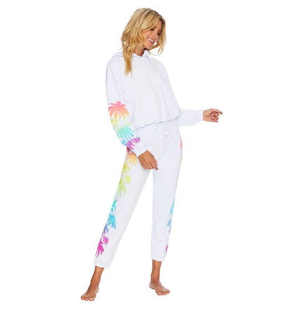 RAINBOW PALM MADNESS SWEATPANT BEACH RIOT BR01375S1-WHT