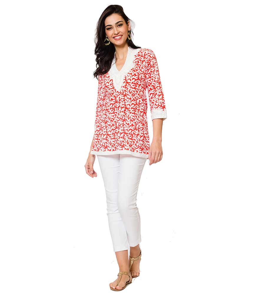 RED SANIA TUNIC SULU SANIA15