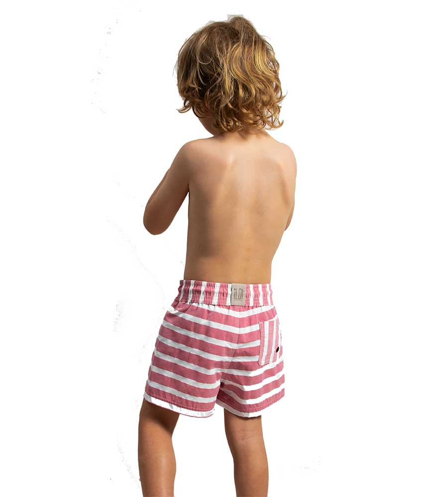 RED STRIPE IT OUT BOYS SWIM SHORTS BY TOUCHE