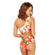 RED BLOOM ONE SHOULDER ONE PIECE COSITA LINDA CL21139M