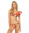 RED BLOOM RUFFLED TOP COSITA LINDA CL21137B