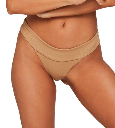 CAMEL RIDIN HIGH RIBBED VERONICA BOTTOM BY LSPACE