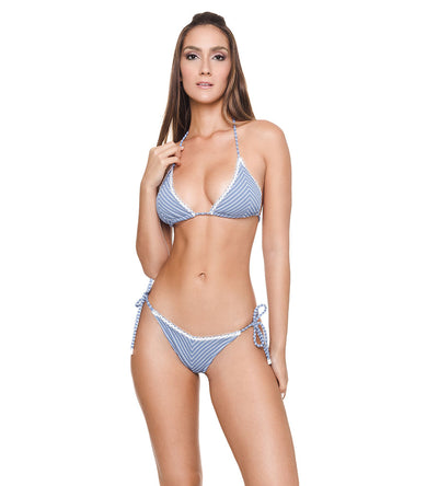 RIBBED ARGENTO MANDY BIKINI TOP DESPI 4931T