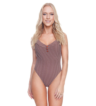 RIBBED BROWNIE CHRISTY ONE PIECE DESPI 4564BF
