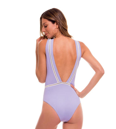 ROMANTIC FLOWERS LILAC ONE PIECE MILONGA ROM703