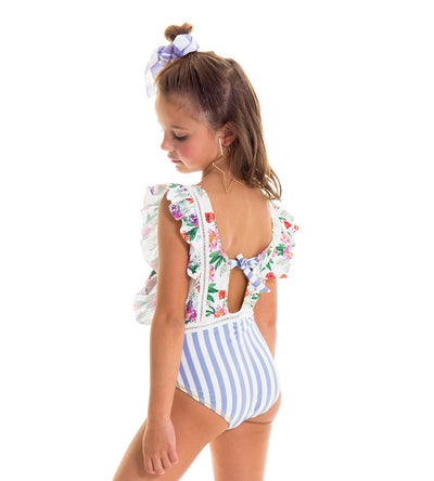 ROMANTIC FLOWERS GIRLS ONE PIECE MILONGA ROMK07
