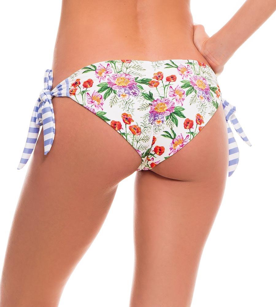ROMANTIC FLOWERS TIE SIDE BIKINI BOTTOM BY MILONGA