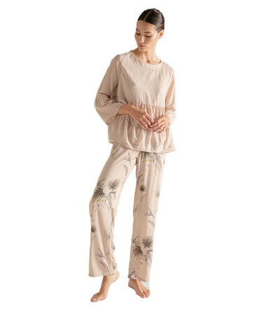 ROSEWOOD PALMS LONG PANT PAJAMA SET TOUCHE 2519011