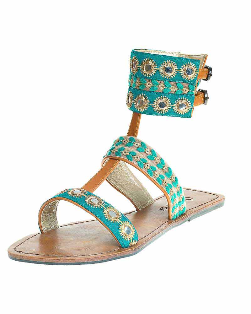 MANTIS EMBELLISHED CUFF SANDALS ONDADEMAR S281-MAT