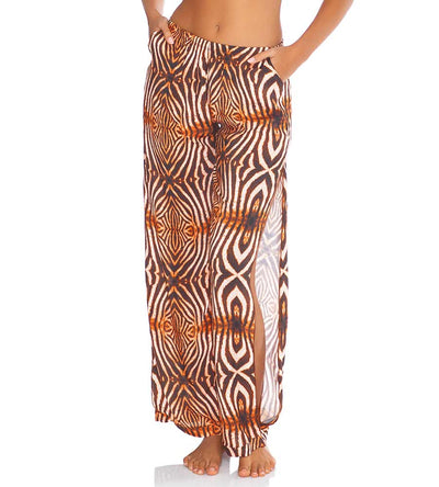 SAFARI DREAMS SPLIT SIDE WIDE LEG PANT LULI FAMA L649N72-007