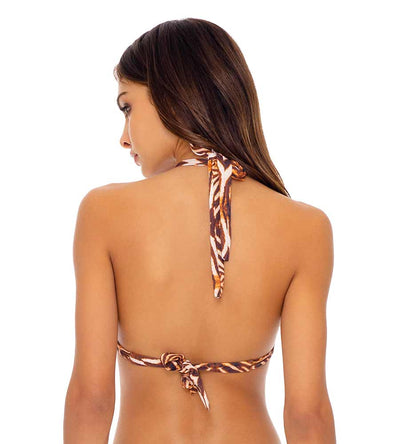 SAFARI DREAMS TRIANGLE HALTER TOP LULI FAMA L64973P-007