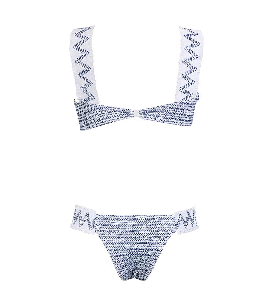 SEA BLUE WANDERLUST BIKINI BY KITESS SWIMWEAR