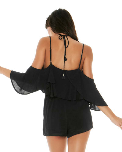 BLACK SEASIDE ROMPER LSPACE SEAJU18-BLK