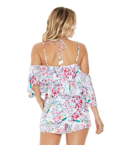 PAISLEY PERFECT SEASIDE ROMPER LSPACE SEAJU18-PPT