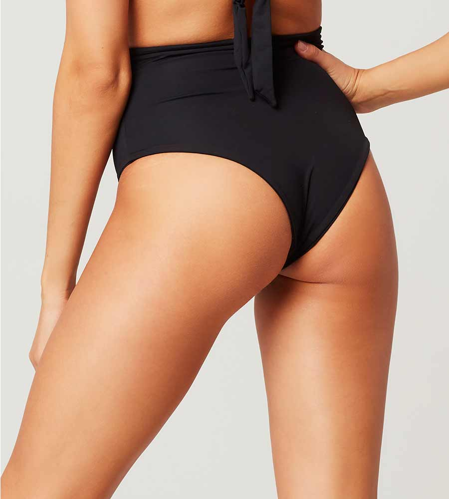 SENSUAL SOLIDS BLACK PORTIA BOTTOM BY LSPACE