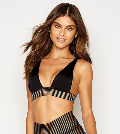 SHEER ADDICTION BLACK HIGH APEX TOP BEACH BUNNY B12125T0-BLCK