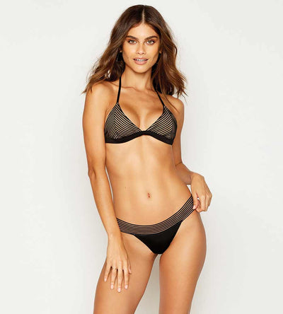 SHEER ADDICTION BLACK TRI TOP BEACH BUNNY B12125T2-BLCK